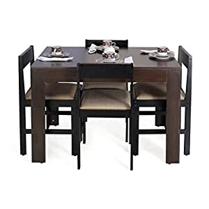 Forzza peter four seater rectangular dining table set for Dining room tables on amazon