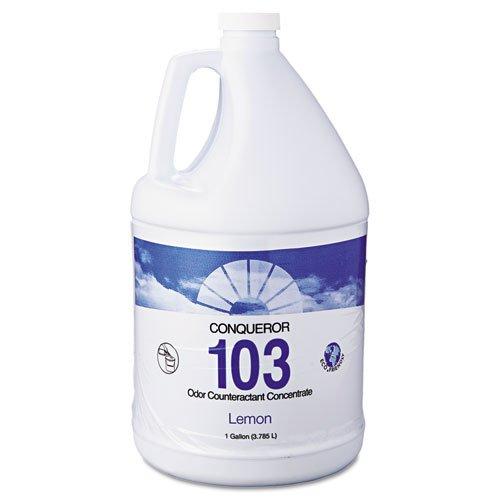 ** Conqueror 103 Odor Counteractant Concentrate, Lemon, 1gal **