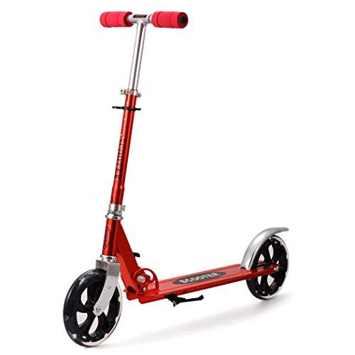 Scooter Roller Tretroller Cityroller Kinderroller klappbar 205 mm Wheel NEU Farbe:Rot