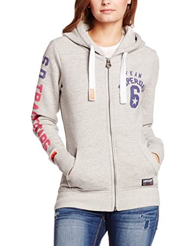 Superdry Sweatjacke Super Star Entry grau meliert