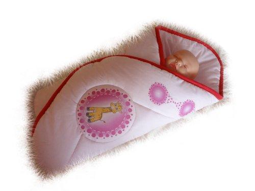 Blueberry Shop Newborn Baby Swaddle Wrap Blanket Duvet Sleeping Bag Snuggle Wrap Pink Giraffe - 1
