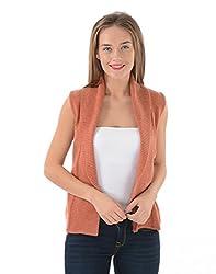 US Polo Women's Cotton Sweater (UWSW0100_Langoustine_L)