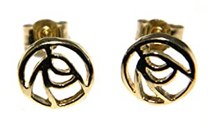Arranview Jewellery - 9ct Gold Rennie Mackintosh Earrings