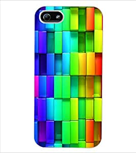 ColourCraft Colourful Pattern Design Back Case Cover for APPLE IPHONE 5