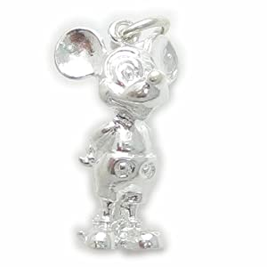 Mickey the Mouse sterling silver charm - pendant .925 x 1 Mice charms ECMJ05