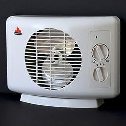 Seabreeze SF11T Sleek 1500-watt Heater Fan Equipped with ThermaFlo Technology, White by Seabreeze
