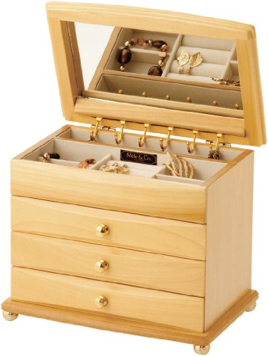 Justine Wooden Jewellery Box by Mele & Co Size