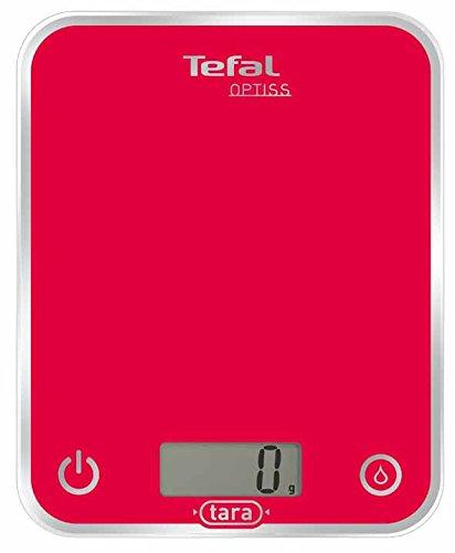 Tefal BC5003V1 Balance de Cuisine Optiss Verre 5Kg/1 g Framboise