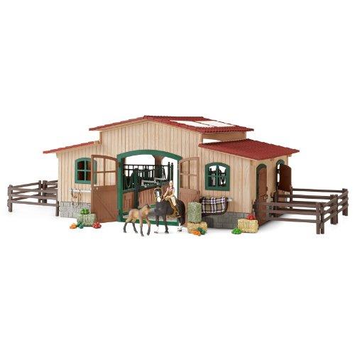 schleich-42103-il-ranch-dei-cavalli-con-accessori-set-da-gioco