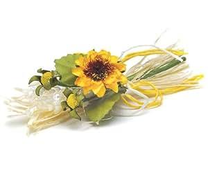 Weddingstar 7034 Yellow Sunflower Tied Mini Bouquet
