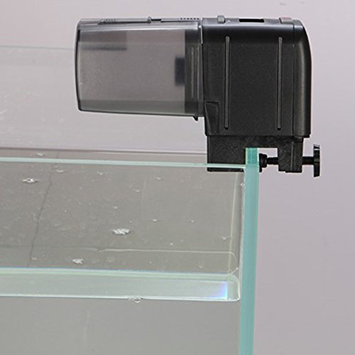 Hde automatic fish feeder programmable electronic lcd for Fish food dispenser