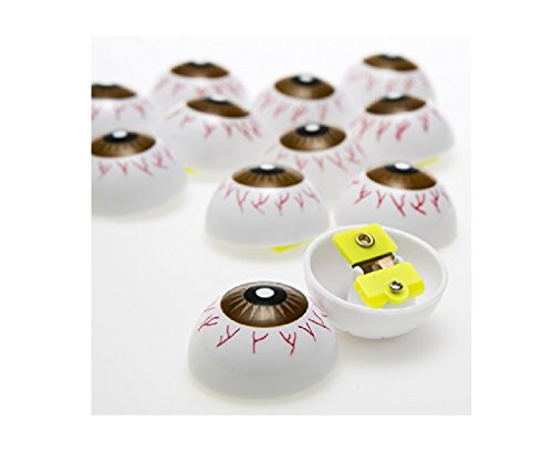 "Eyeball Clickers (12 Pack) Plastic. Size 1 1/4"" Diameter."