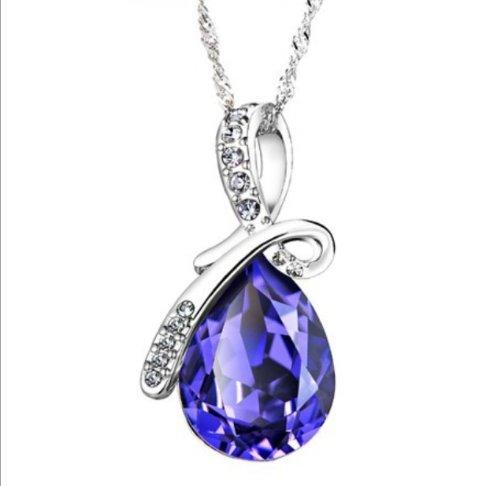 Austrian Crystal Eternal Love Teardrop 100% Genuine ...