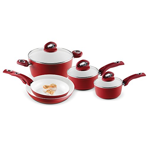Bialetti Aeternum Red 7252 8 Piece Cookware Set (Valentines Cookware compare prices)