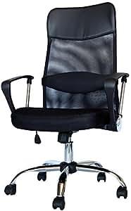 MR-STOREハイバックオフィスチェア 着脱可能腰クッション付き 上下左右可動式 メッシュタイプ ブラック
