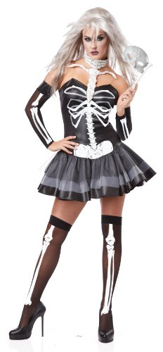 California Costumes Women's Platium Collection - Skeleton Masquerade Adult