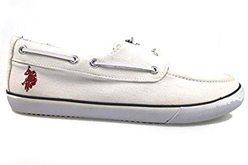 scarpe uomo U.S POLO ASSN. mocassini bianco tessuto AP286 (44 EU)