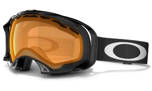 Oakley Herren Skibrille Splice, jet black w/ persimmon, 57-242