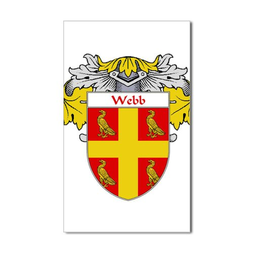 Webb Coat of Arms Mantled Rectangle Sticker Sticker Rectangle  White Picture