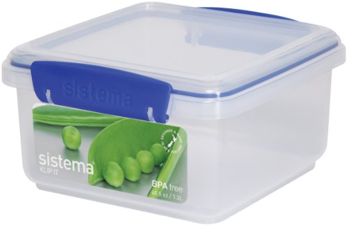 Sistema Klip It 40-Ounce Rectangular Lunch Plus Container