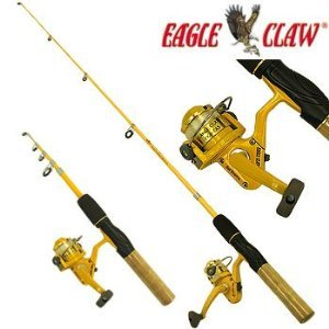 Eagle Claw Pack-It Spin Combo Telescopic Rod (1 Piece) with Mini Tool Box (cog)