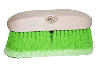 "Magnolia Brush 3036-G Flagged Polystyrene Concrete Mixer and Mobile Home Washing Brush, 8"" Foam Plastic Block, 2-1/2"" Trim, Green (Case of 12)"