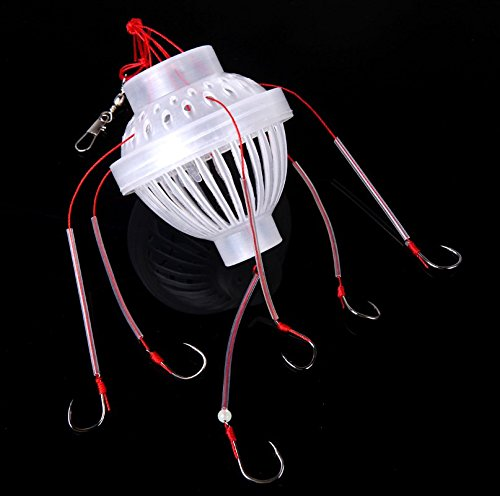 Fishing Accessory 3 pieces / lot Fishing Tackle Sea Monster with Six Strong Spherical Fishing Hook Hooks (Ice Fishing Basket compare prices)