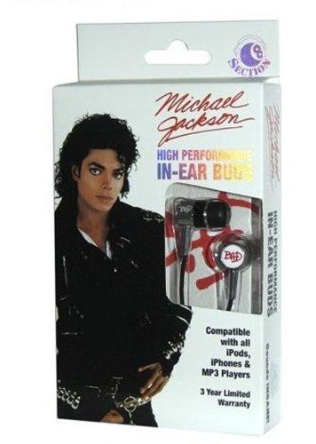 Section 8 Rbw-5086 Michael Jackson Bad Earbuds Headphones - Black