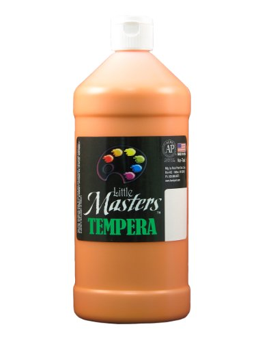 Little Masters by Rock Paint 203-715 Tempera Paint, 1, Orange, 32-Ounce