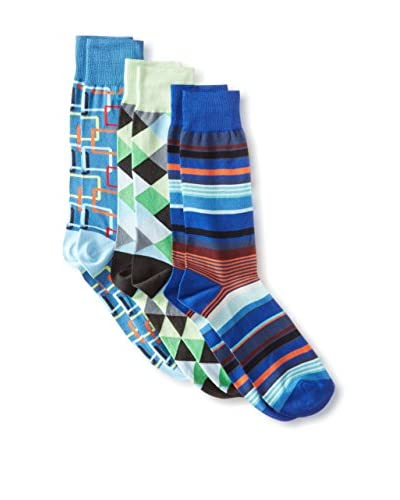 Jared Lang Men's Mixed Pattern Socks - 3 Pack, Multi, One Size