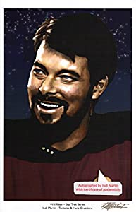 "Will Riker - Star Trek Series 11"" X 17"" Print Autographed By Artist Indi Martin with COA"