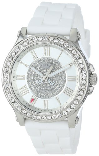 juicy-couture-womens-1901051-pedigree-stainless-steel-watch-with-white-silicone-strap