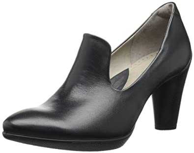 爱步ECCO Women's Sculptured 75 Baroque Pump女士真皮高跟裸靴$74.96 黑
