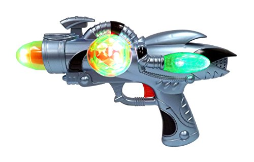 Galactic Space Infinity Blaster Pistol Toy Gun for Kids with Spinning Lights & Blasting Sounds