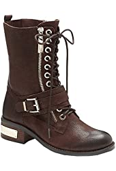 Vince Camuto Women's Wila Flat Ankle Boots motorcycle flair