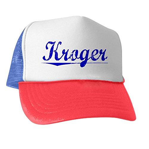 cafepress-kroger-blue-aged-trucker-hat-classic-baseball-hat-unique-trucker-cap