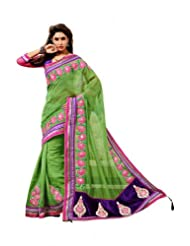 Fashion Femina Crush Saree Crafted Wirh Stone, Gota Patti, Bead, Dori and Resham Work