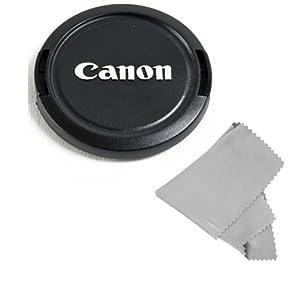 CowboyStudio 58MM Lens Cap Snap-On for CANON Rebel (T4i T3i T3 T2 T2i T1i XT XTi), CANON EOS (1100D 650D 600D 550D 500D 450D 400D 350D) + Microfiber Cleaning Cloth