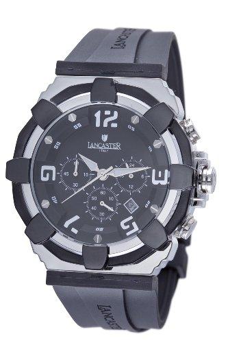 Lancaster Men's  OLA0440SS RoBusto Black Dial Watch Model