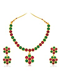 Sukkhi Glimmery Gold Plated Australian Diamond Necklace Set