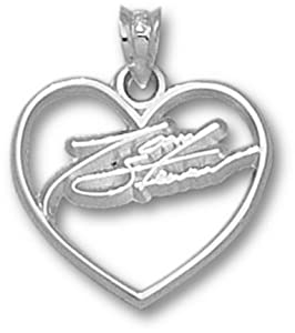 Logoart Tony Stewart 3 4 Inch Sterling Sliver Gold Signature Heart Pendant Each by Logo Art