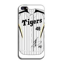 『48 金田 和之』サイン入り! 阪神タイガース iPhone5 ケース ユニフォーム柄(ホーム) カバー アイフォン5 SoftBank au TL-STAR