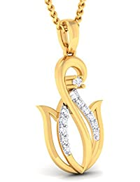 P.N.Gadgil Jewellers Yellow Gold And Diamond Pendant