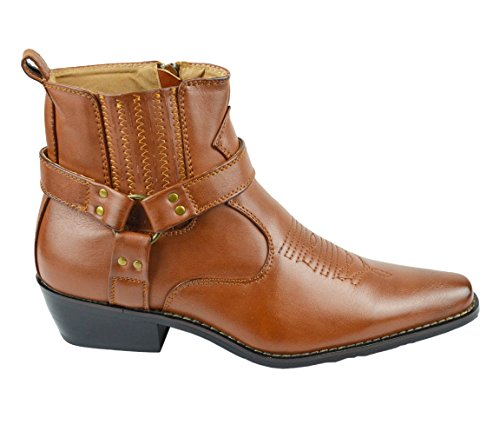 s country inspired cowboy faux leather ankle boots