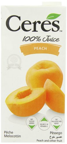 Ceres Peach 100 Percent Fruit Juice 1 L (Pack of 12)