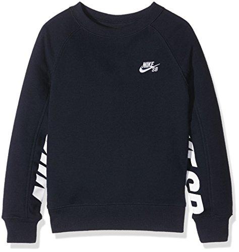Nike SB Everett Graphic Crew Fleece, Felpa Bambino, Blu (Obsidian), 6-7 anni (Taglia Produttore: 6-7Y)