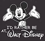I'd Rather Be At Disney Mickey Car Decal Automotive Vinyl Sticker