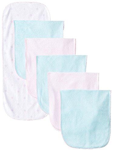 Gerber Baby-Girls Newborn 6 Pack Terry Burpcloths Flower, Pink, One Size - 1