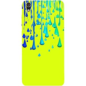 Casotec Neon Paint Design Hard Back Case Cover for Lenovo S850