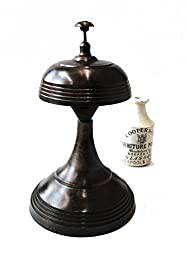 Tall Bronze Finish Reception or Shop Keepers Bell Ring for Service